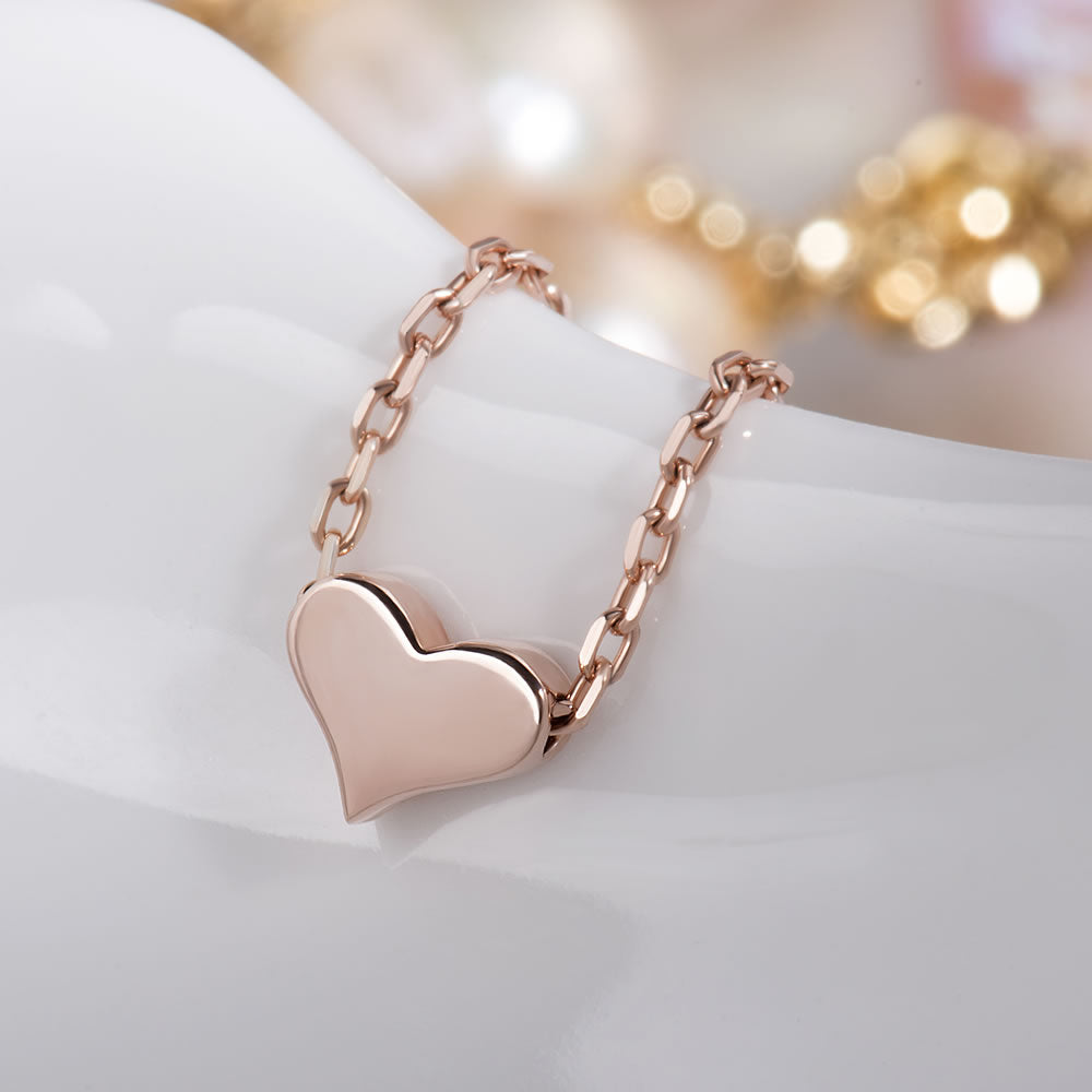 high shine Tiny Heart Necklace gift for her