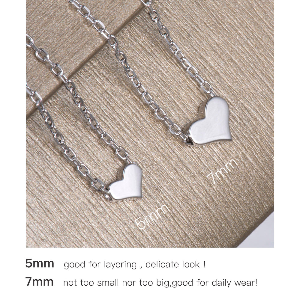 sterling silver Tiny Heart Necklaces for girls