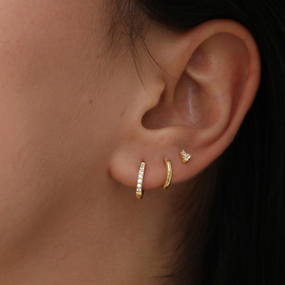 Delicate tiny hoops earrings for women