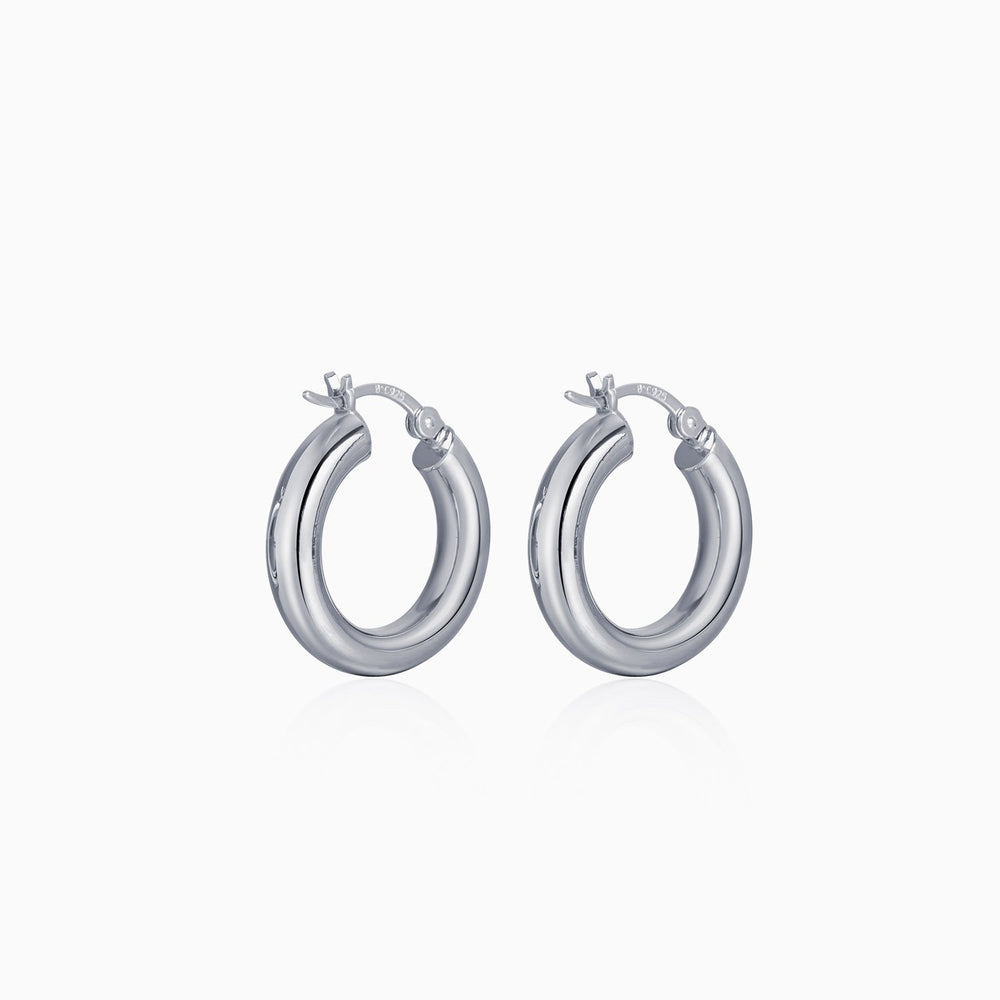 hoop earrings 925 sterling silver