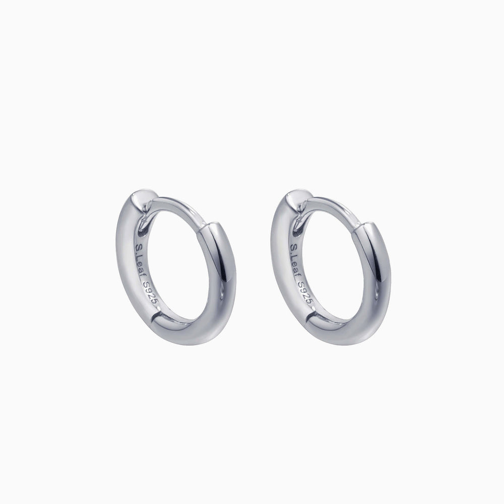 Mini hoop earrings sterling silver men women