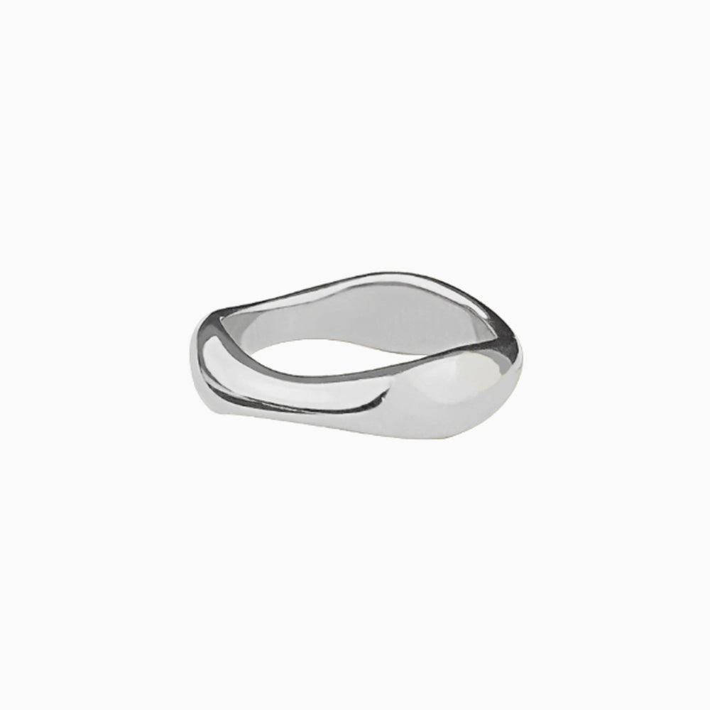 Flowing Curve Ring sterling silver
