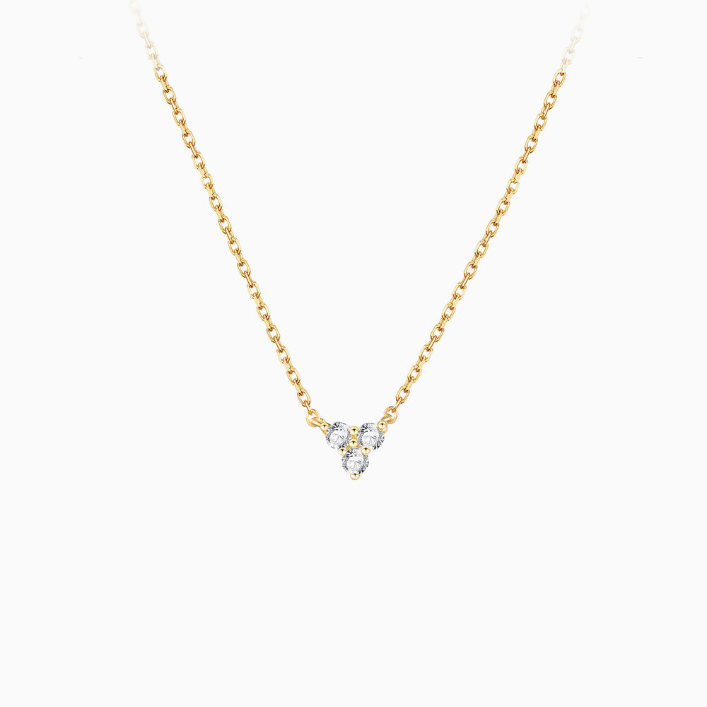 14k gold plated Triangle Cubic Zirconia Necklace
