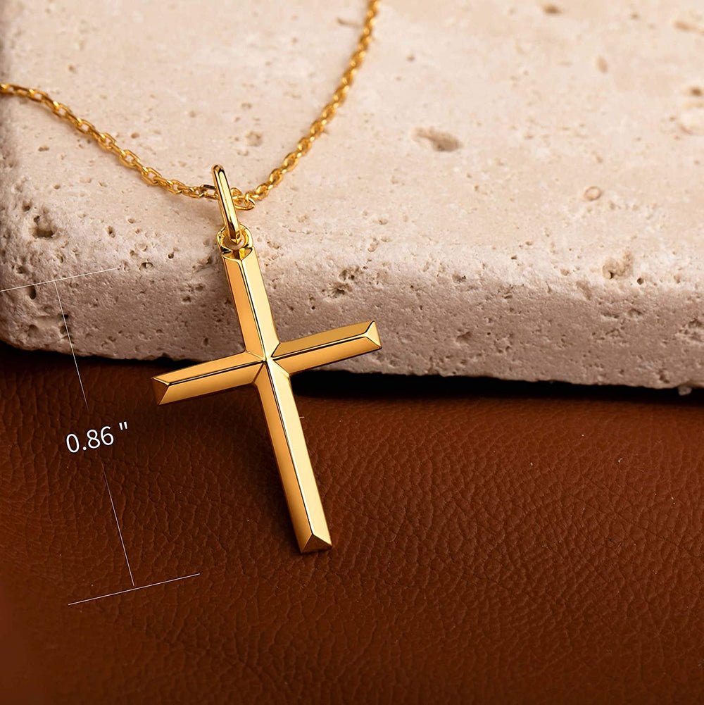 Minimalist Cross Pendant Necklace religious jewelry for women