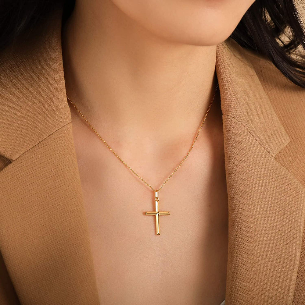 Simple Cross Necklaces for women gold