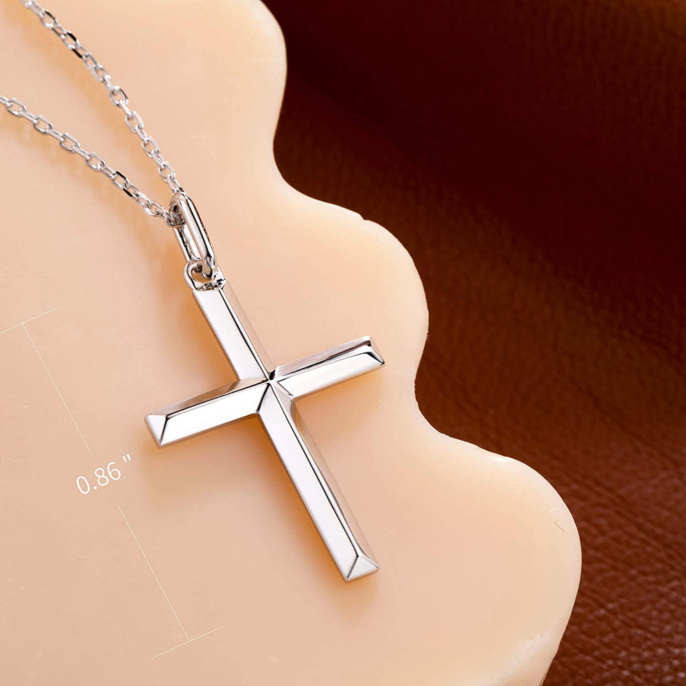 delicate cross necklace for women girls mirror polished