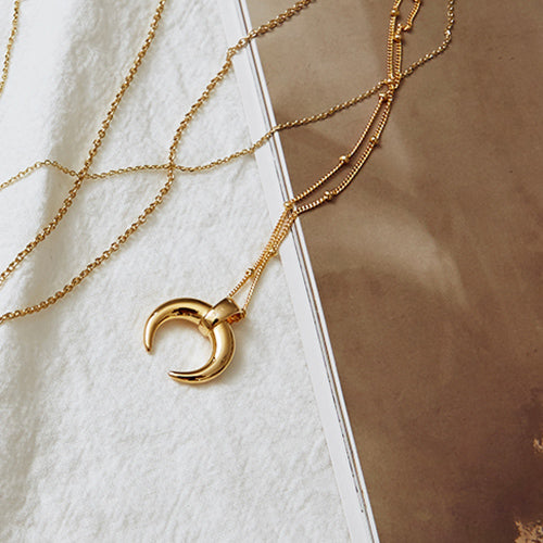 [Presale] New Moon Long Necklace