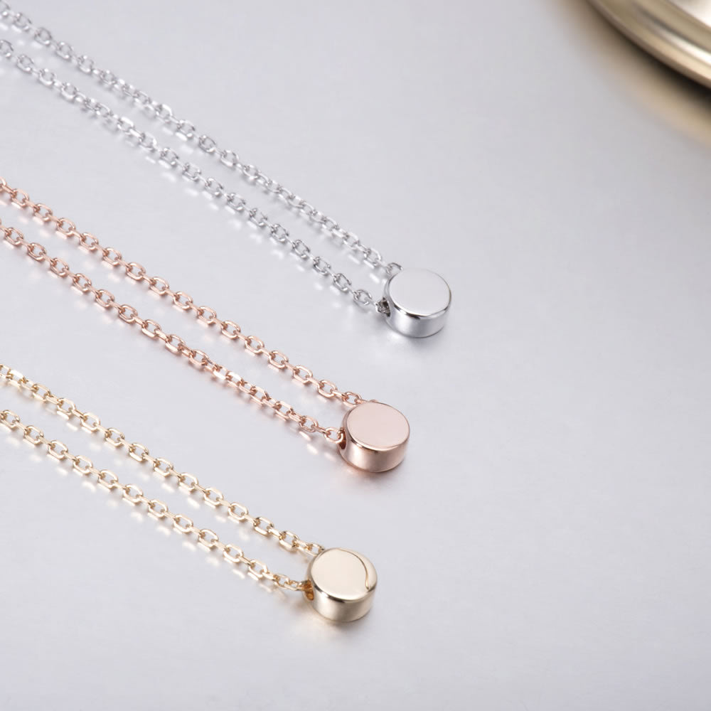 high shine Dot pendant Necklace