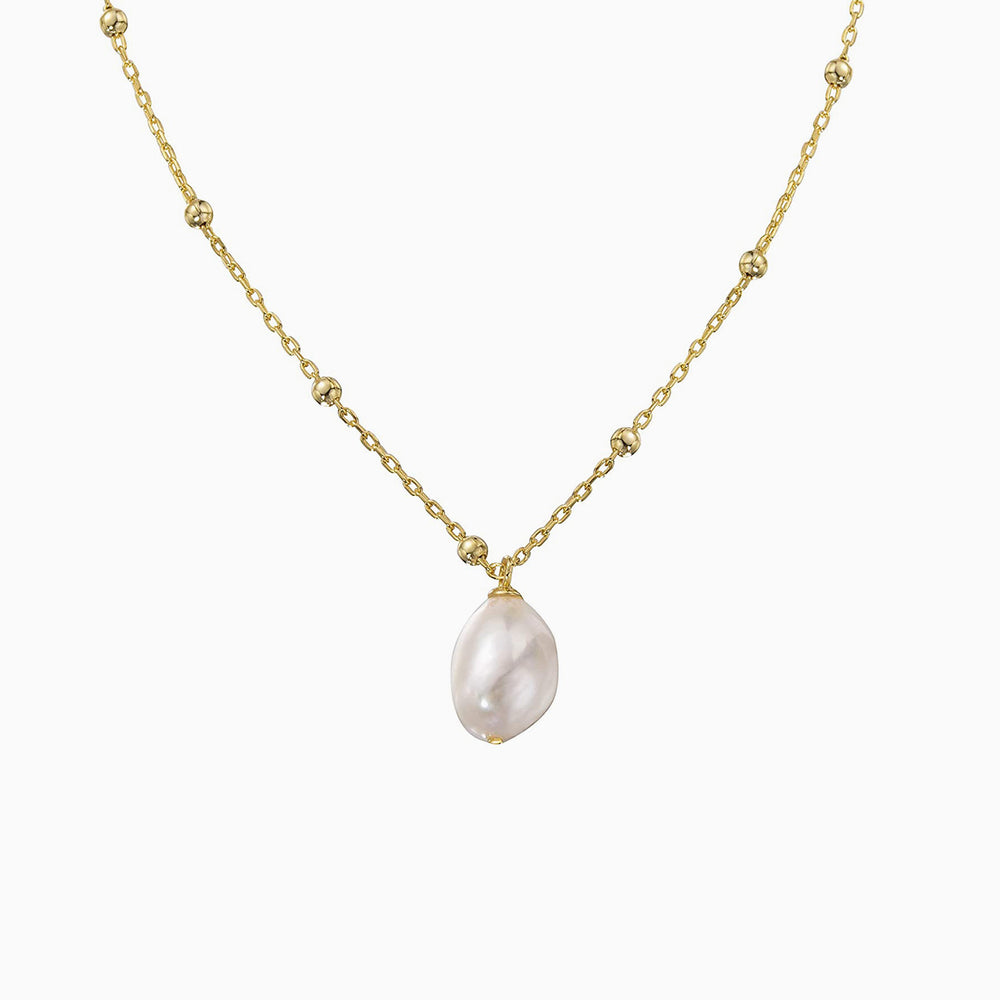 Satellite Chain Baroque Pearl Choker Necklace