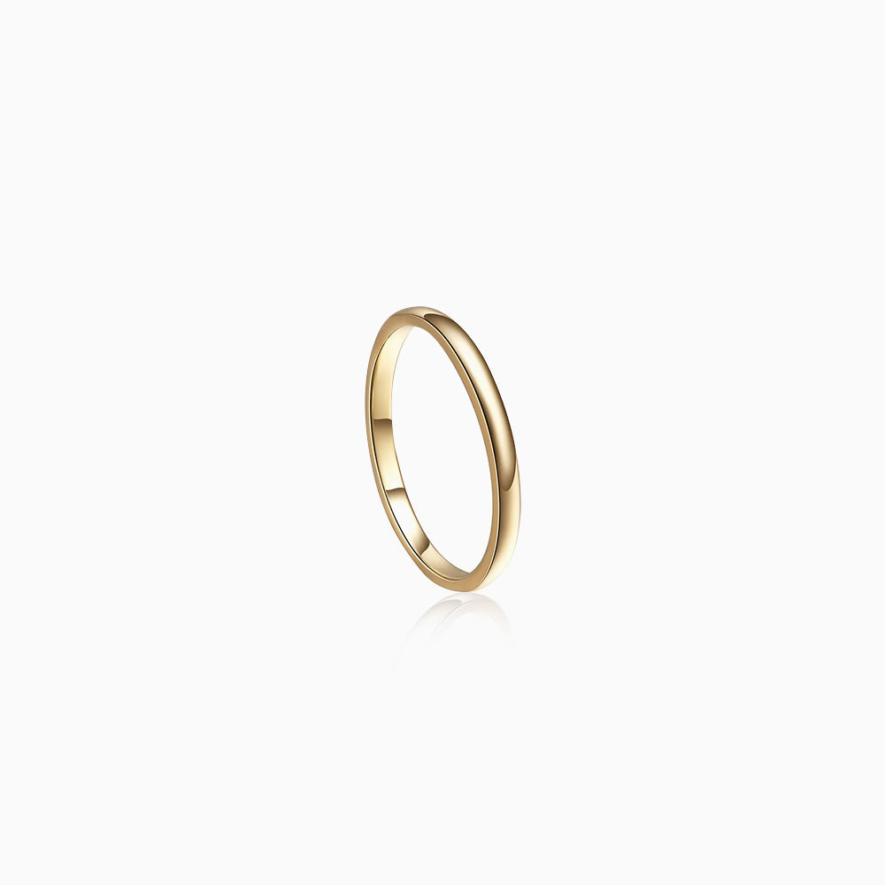 Plain Dome Band Ring gold
