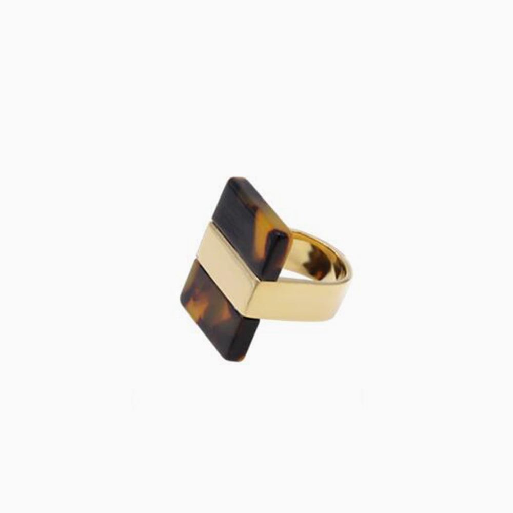 Acrylic Leopard Tortoise Shell Ring
