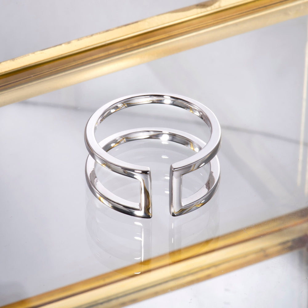 simple Parallel Bar Ring gift for her