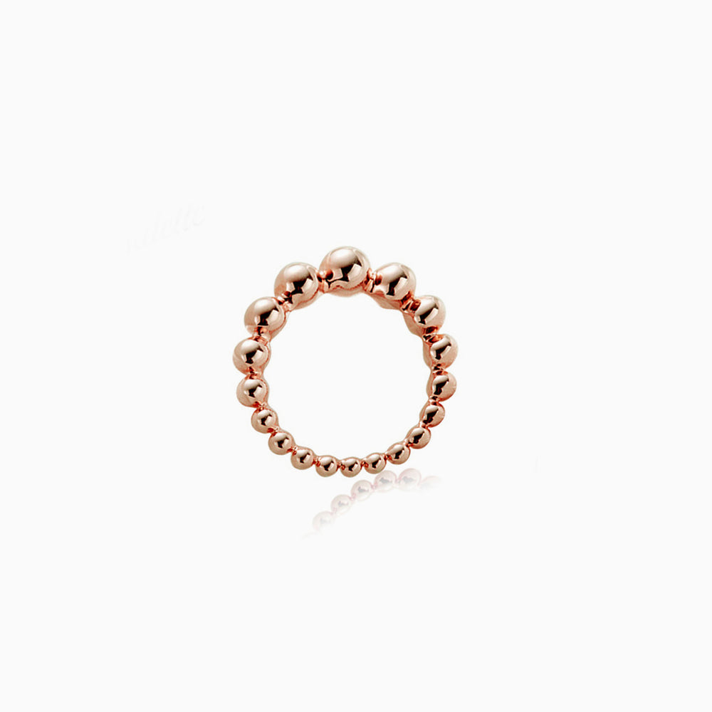 Bubble Ball Ring rose gold