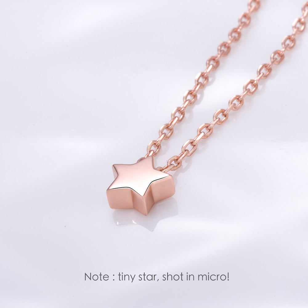 Tiny Star Necklace sterling silver rose gold plated