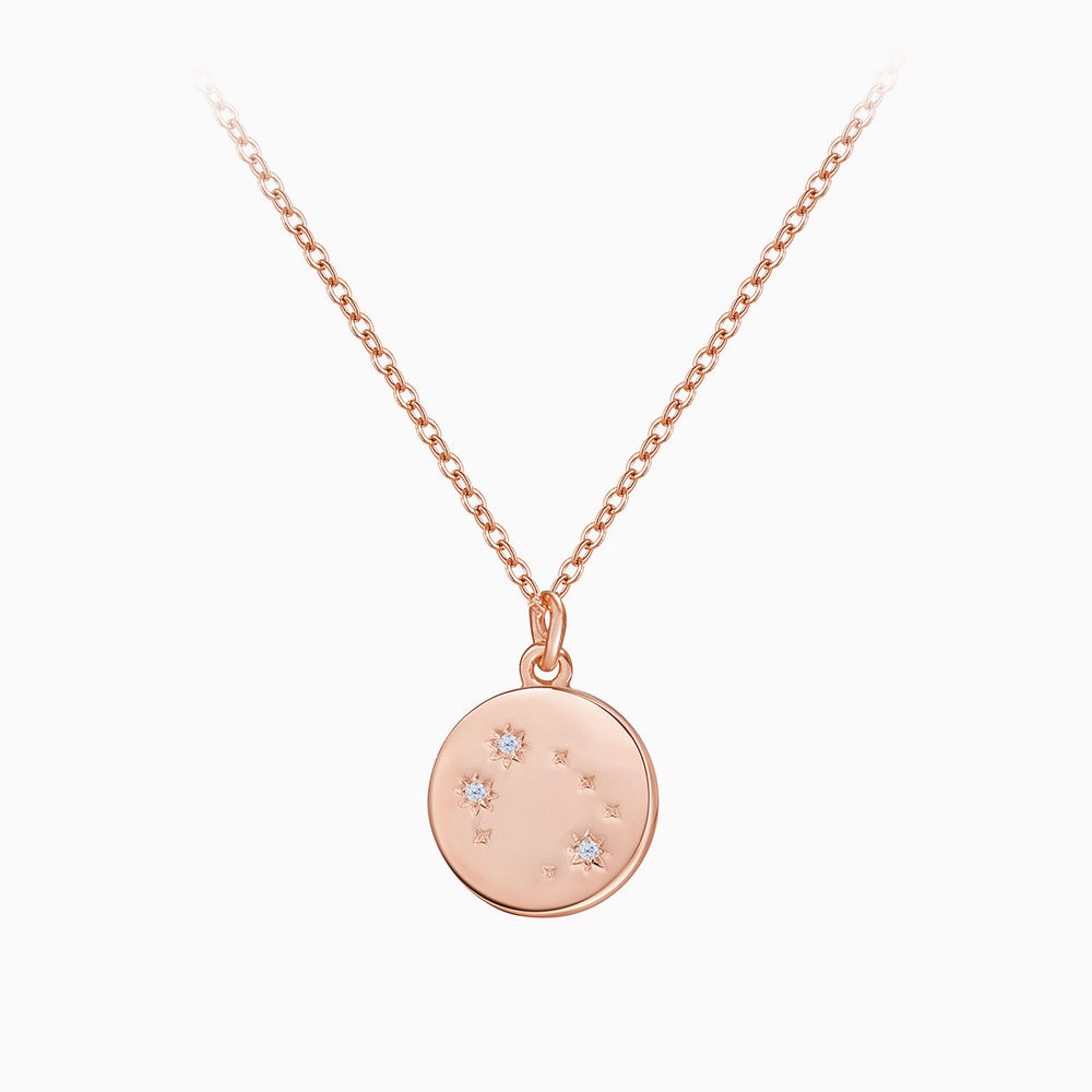 miniamlist Rose Gemini Zodiac Coin Necklace