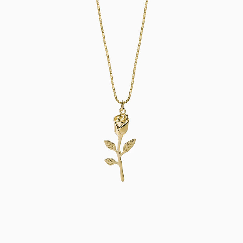 gold vintage Rose Branch Necklace for women