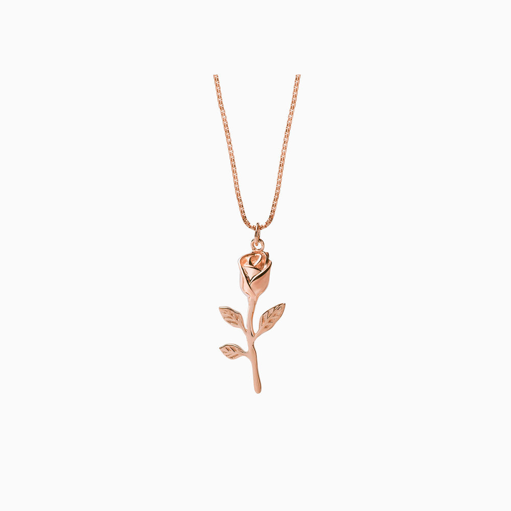 Rose Branch Necklace rose gold