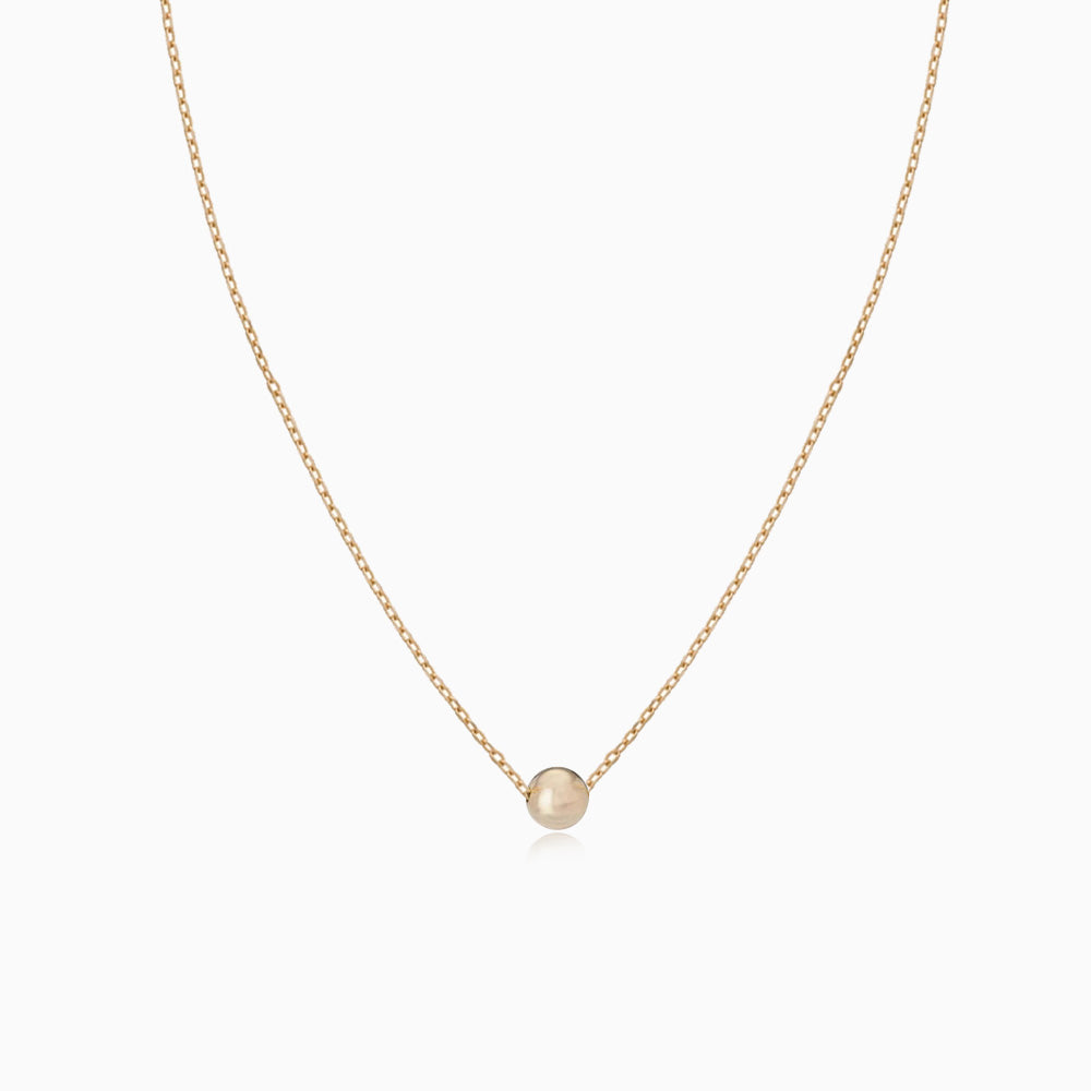 Tiny Ball Necklace gold