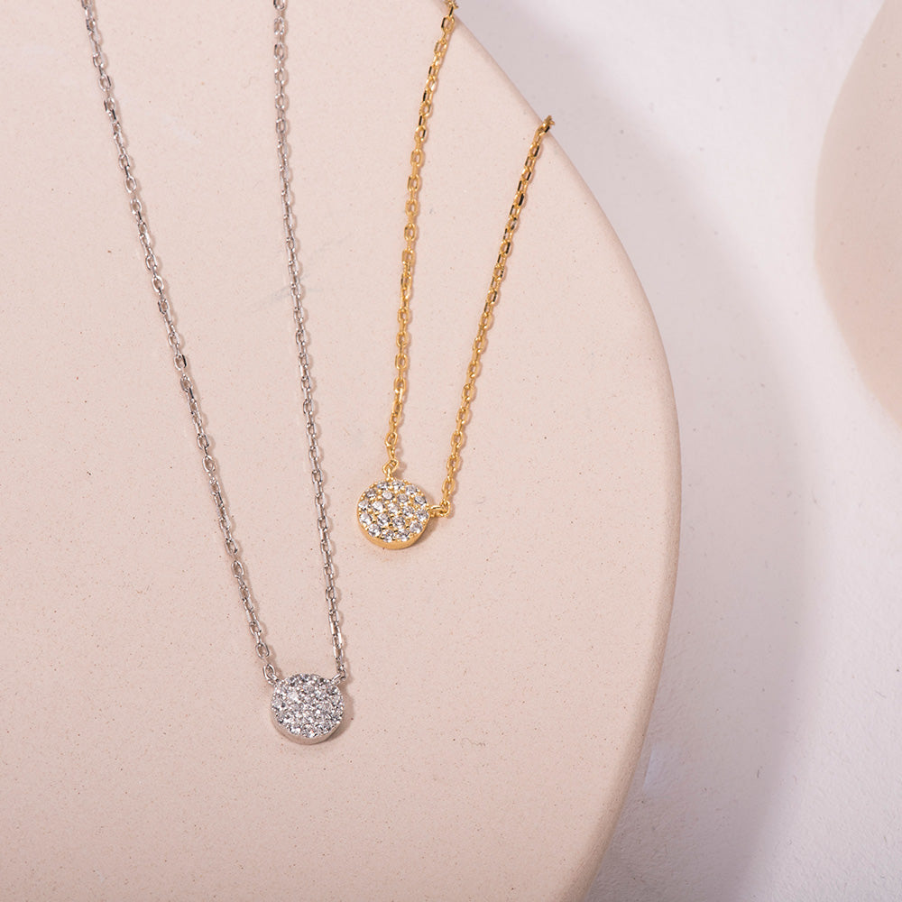 shining CZ pendant necklace