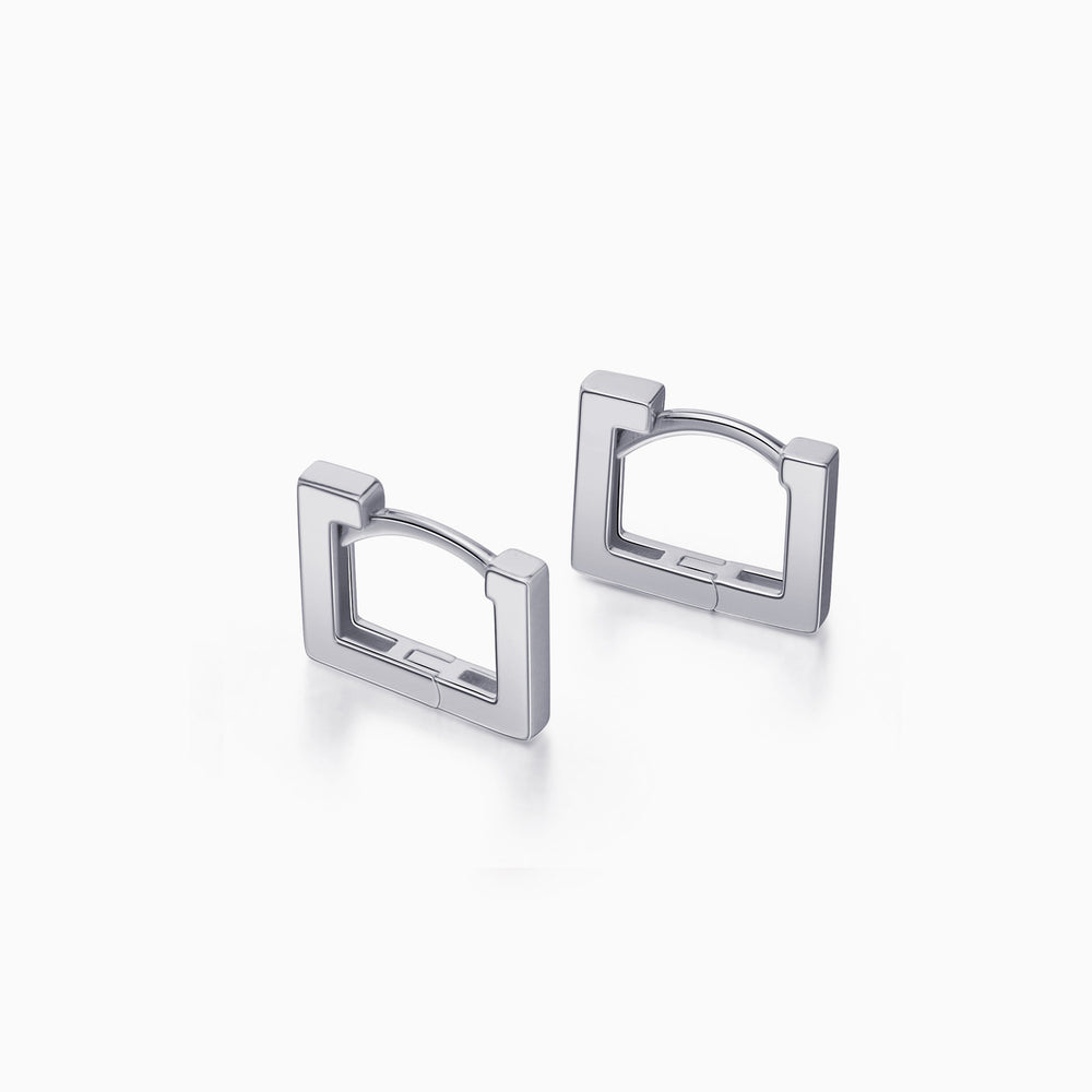 Short Square Hoop Earrings