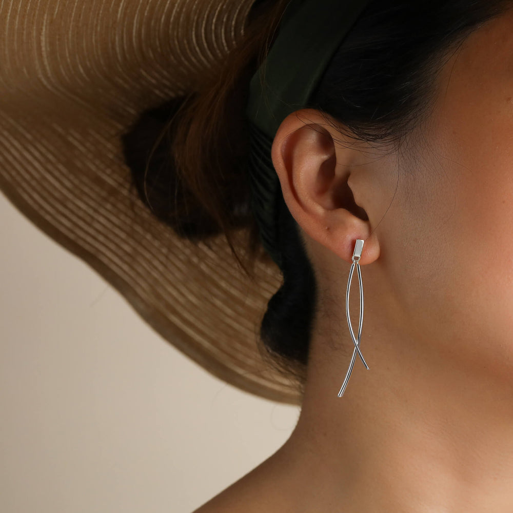 Minimalist Fishtail Dangle Earrings