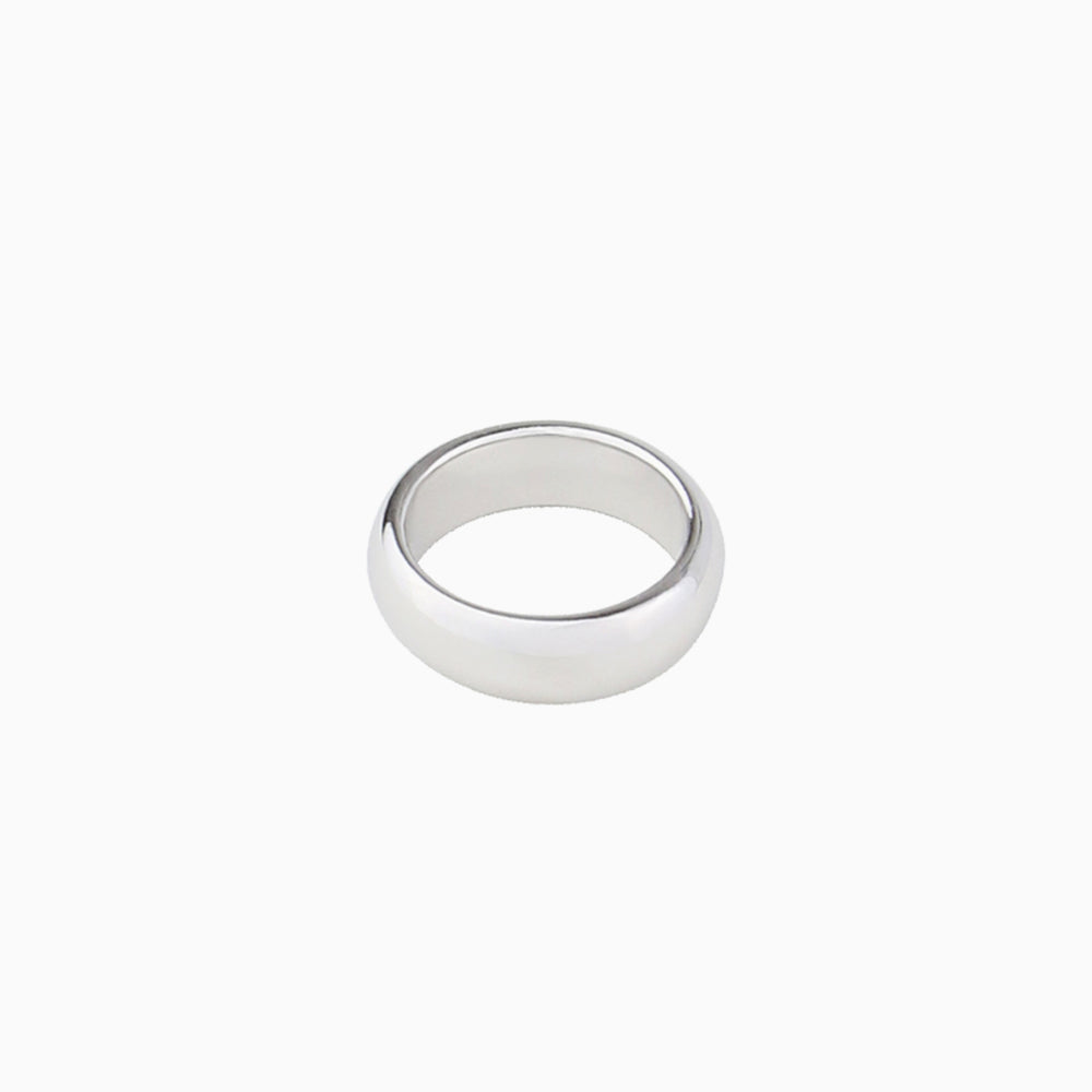 simple band ring for women silver