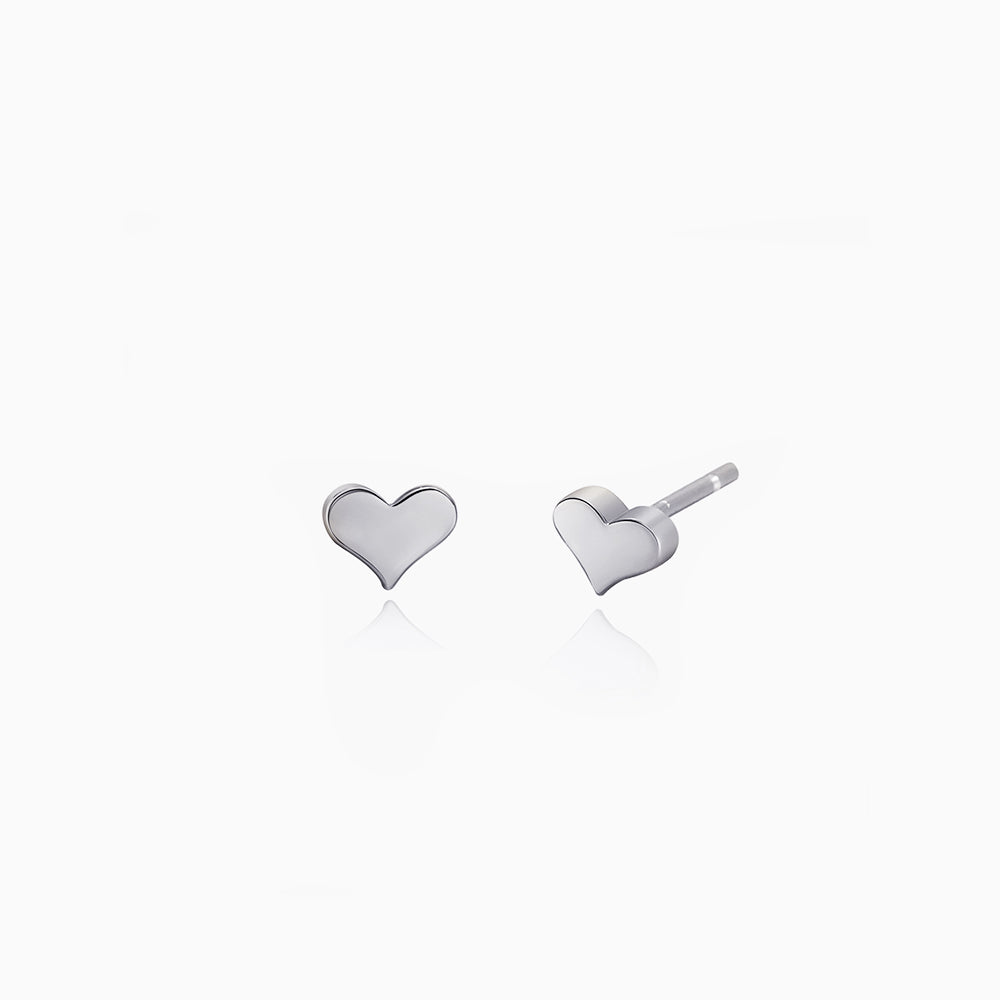 Heart Stud Earrings sterling silver