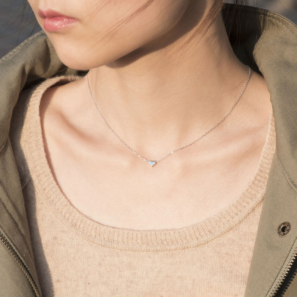 simple Tiny Heart Necklace for women