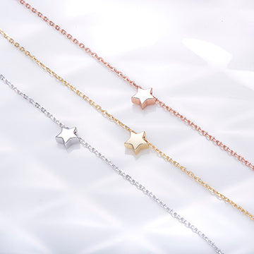 high shine Tiny Star Necklace