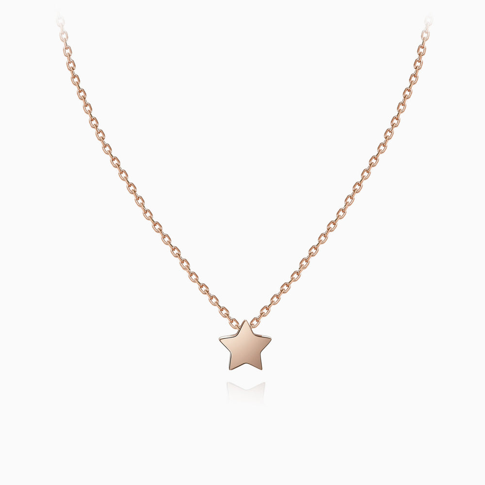 cute Tiny Star Necklace rose gold