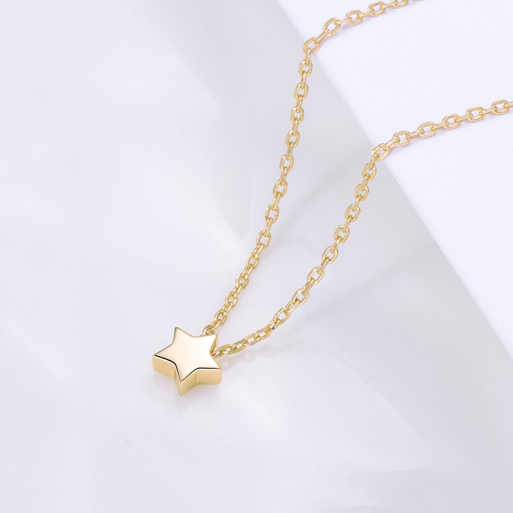 dainty shining Tiny Star Necklace for women
