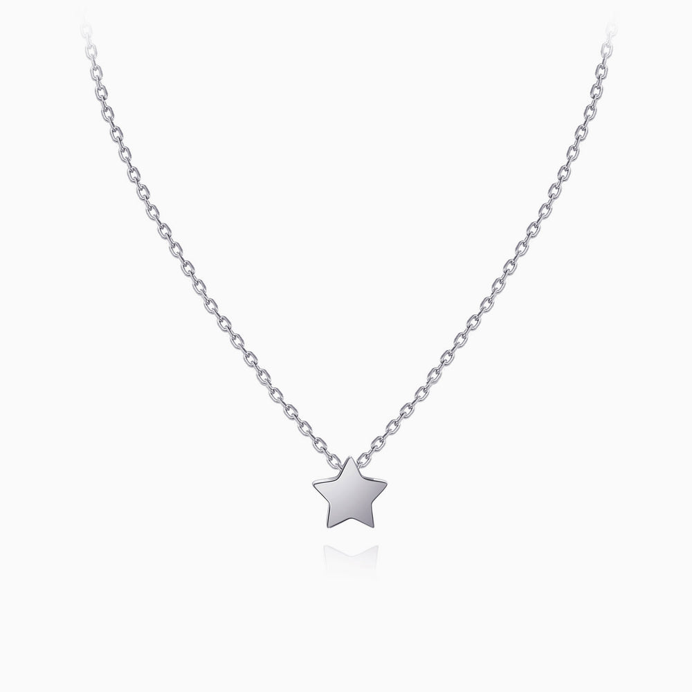 Tiny Star pendant Necklace sterling silver