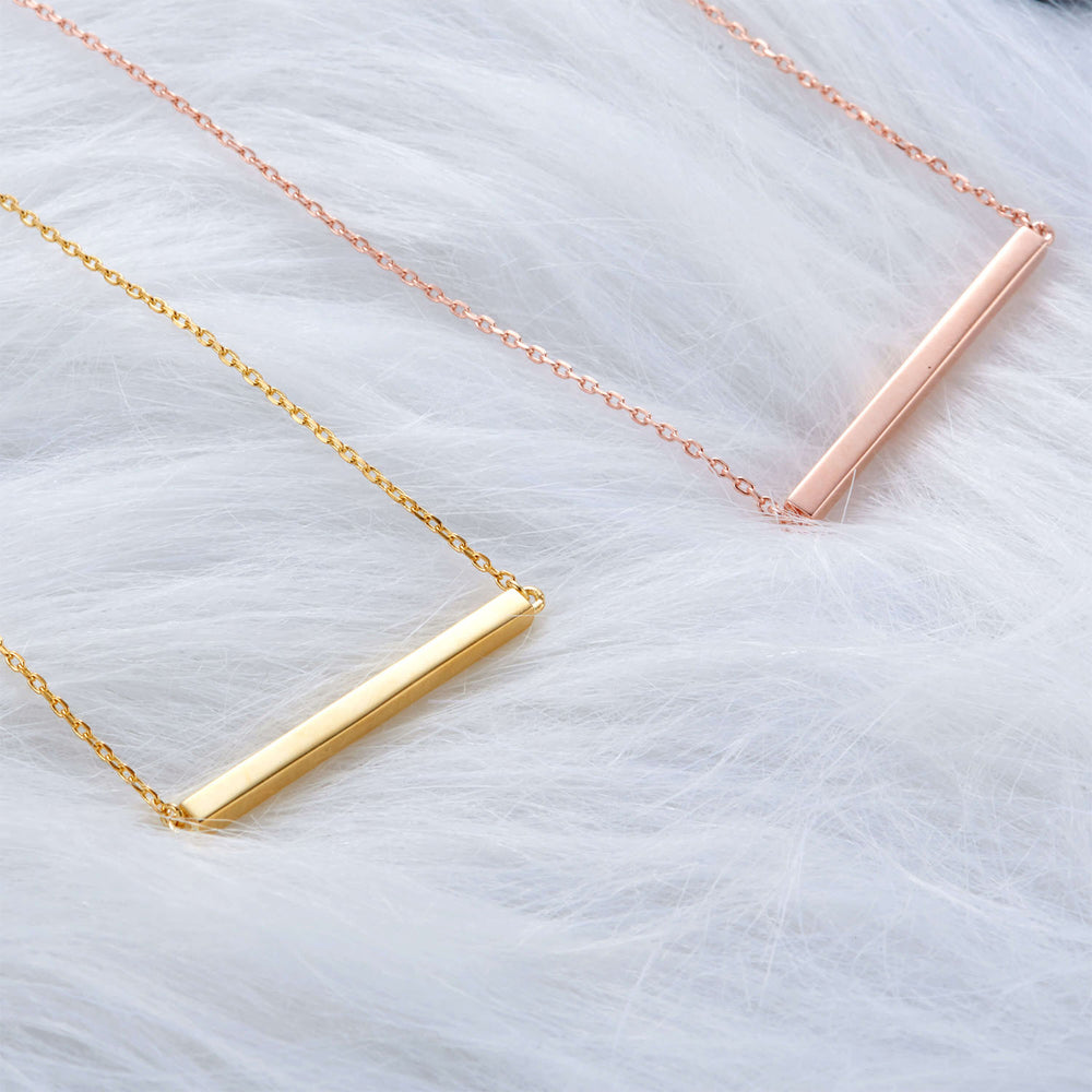 Minimalist Bar Necklace for everyday wear