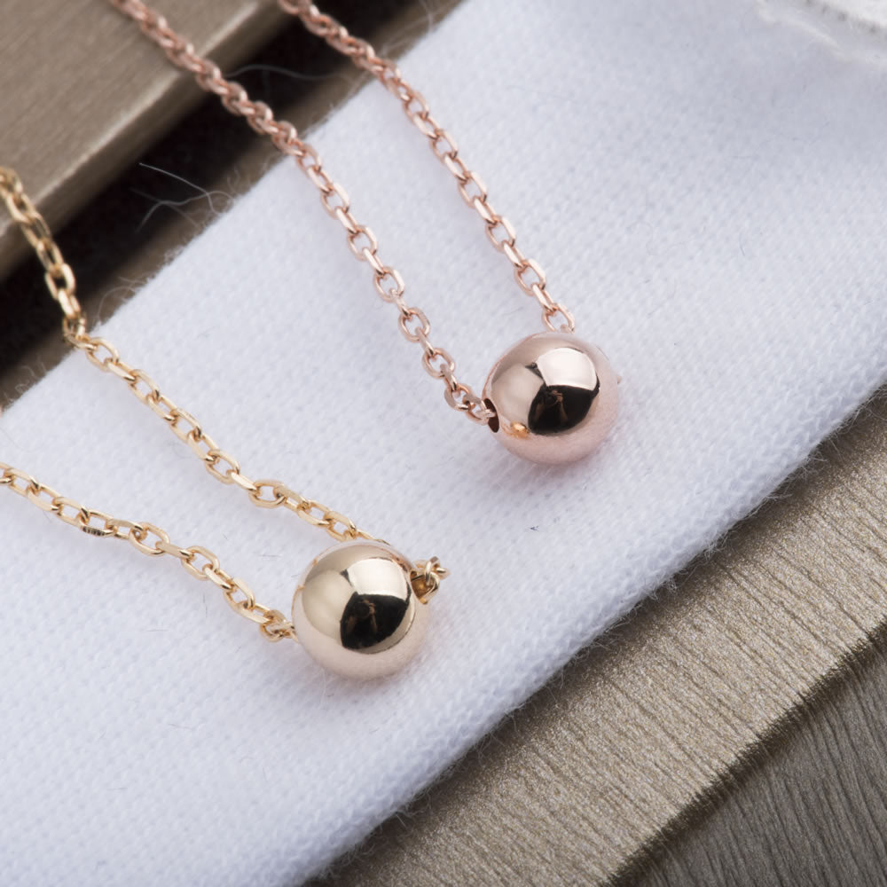 dainty Tiny Ball Necklace gift ideas