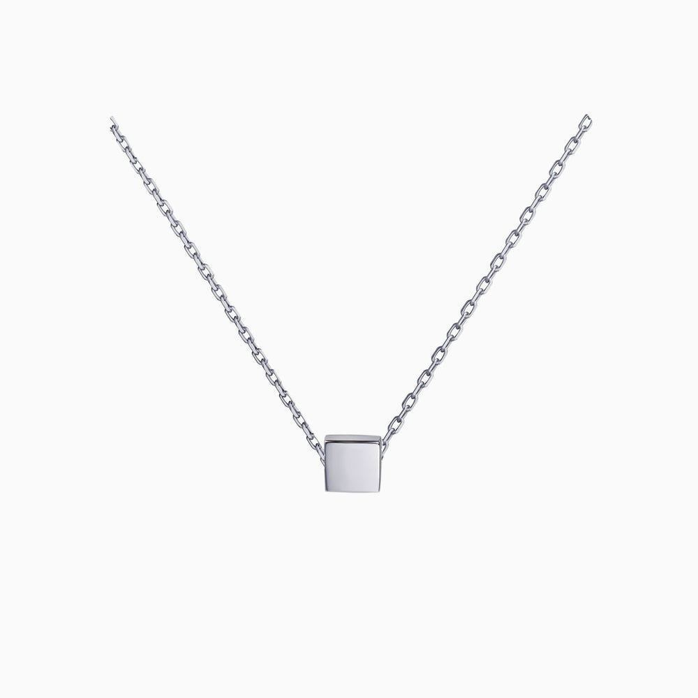 Square Pendant Necklace sterling silver