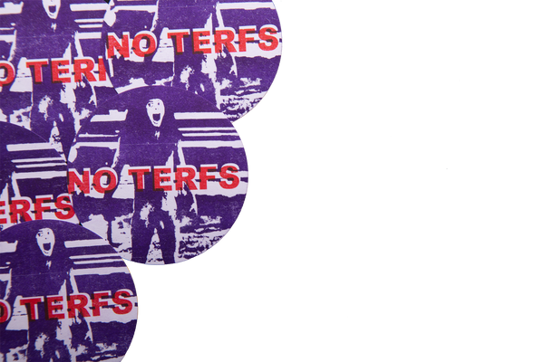 NO TERFS Stickers (Set of 5, WEATHER RESISTANT)