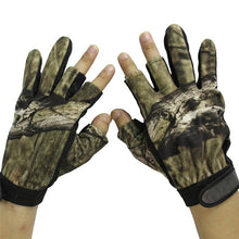 Load image into Gallery viewer, Hunting Gloves Anti-Slip 3 Fingers & 5 cut Fingers Outdoor Camping Cycling Half Finger Gloves Lightweight Skidproof Nonslip