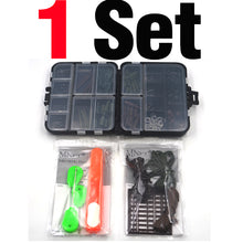 Load image into Gallery viewer, MNFT 1Set Carp Fishing Tackle Kit Box Lead Clips/Beads/Hooks/Scissors/Rigging/ Anti-tangle Sleeves/Swivels Baits Terminal Tackle