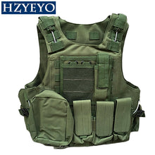Load image into Gallery viewer, HZYEYO Camouflage Hunting Coat CS Hunting Military Tactical Vest Wargame Body Molle Armor Outdoor Equipment 5 Colors