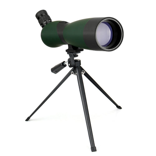 LAIDA 70mm Spotting Scope Optics 25x-75x Zoom Telescope Refractor Birdwatching Hunting Viewing Angle w/ Tripod Soft Case M0086B