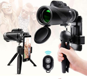 40X60 (1500M-9500M) HandHeld HD Monocular Telescope Traveling Hunting Camping