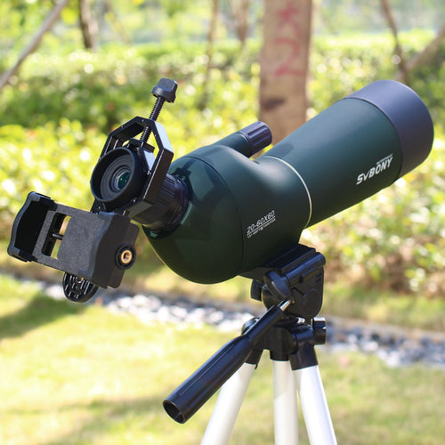 20-60x60 SV28 Telescope Zoom Monocular Spotting Scope Birdwatch & Universal Phone Adapter Mount Waterproof SVBONY Hunting F9308