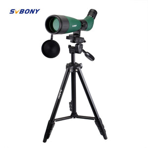 SVBONY SV18 Spotting Scope 20-60x60 Monocular Telescope Compact Shooting Hunting Archery Birdwatch with 54'' Long Tripod F9327