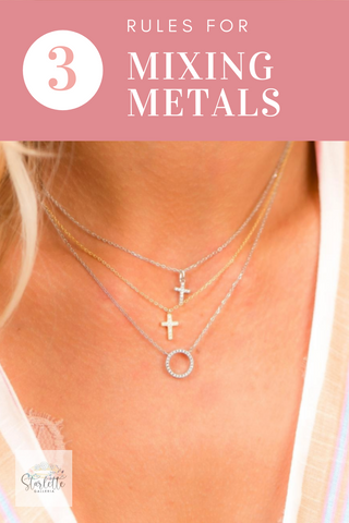 3 rules for mixing metals when wearing jewelry via starlettegalleria.com