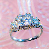 1.28 Carat Princess Cut Halo Engagement Ring