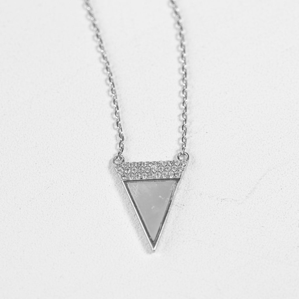 Opal Triangle Necklace (Gold & Silver)