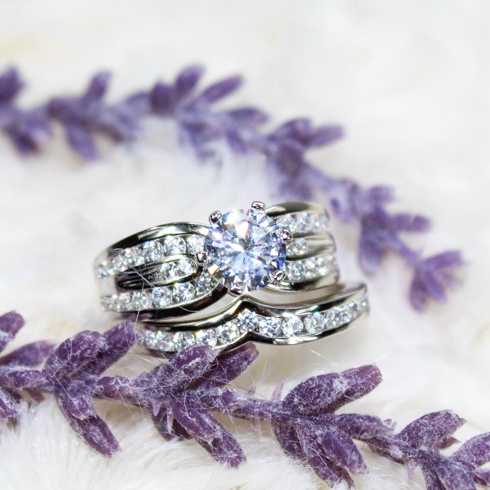 1.5 Carat Round Cut Wedding Set