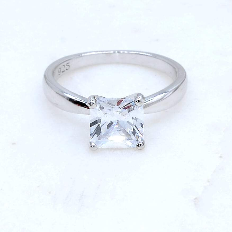 1.5 Carat Princess Cut Solitaire Ring