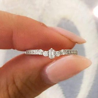 Emerald Cut Stackable