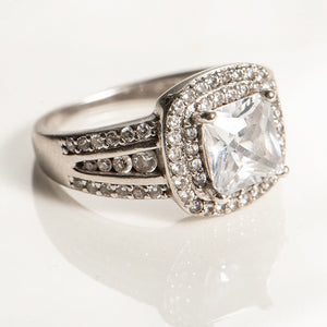 2 Carat Princess Cut Double Halo Ring